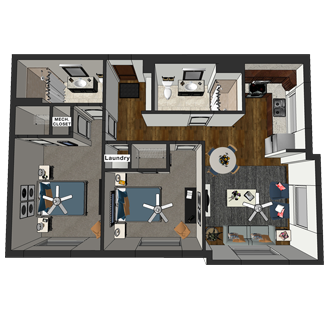 Hamilton - Two Bedroom, Hopkins Commons