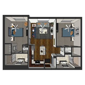 Jay - Two Bedroom, Hopkins Commons