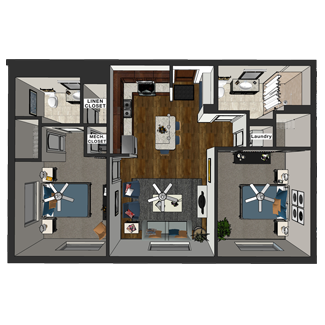 Marshall - Two Bedroom, Hopkins Commons